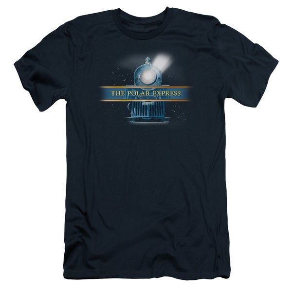 Polar Express/Train Logo Short Sleeve Adult T-Shirt 30/1 in Navy