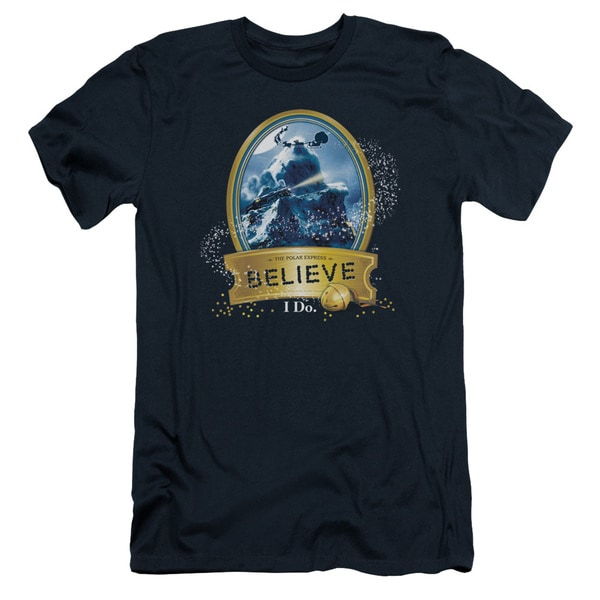 Polar Express/True Believer Short Sleeve Adult T-Shirt 30/1 in Navy