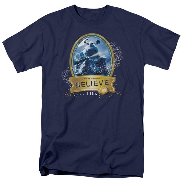 Polar Express/True Believer Short Sleeve Adult T-Shirt 18/1 in Navy