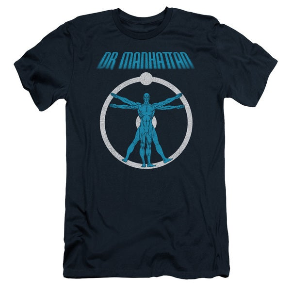 Watchmen/Anatomy Short Sleeve Adult T-Shirt 30/1 in Navy