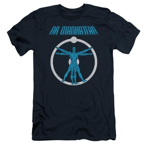 Watchmen/Anatomy Short Sleeve Adult T-Shirt 30/1 in Navy
