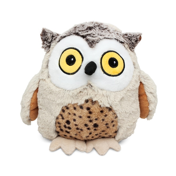 Puzzled Fat Brown Owl Super Soft Plush Stuffed Animal