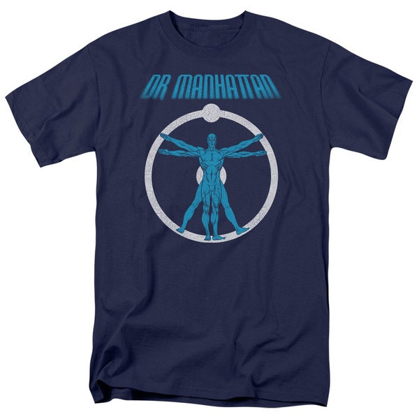 Watchmen/Anatomy Short Sleeve Adult T-Shirt 18/1 in Navy