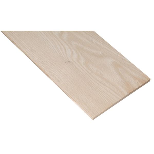 "Waddell PB19506 1/4"" X 3-1/2"" X 24"" Oak Project Board 20051540"