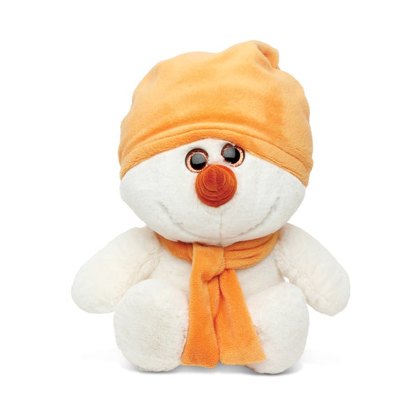 Puzzled Super Soft Plush Orange Snowman
