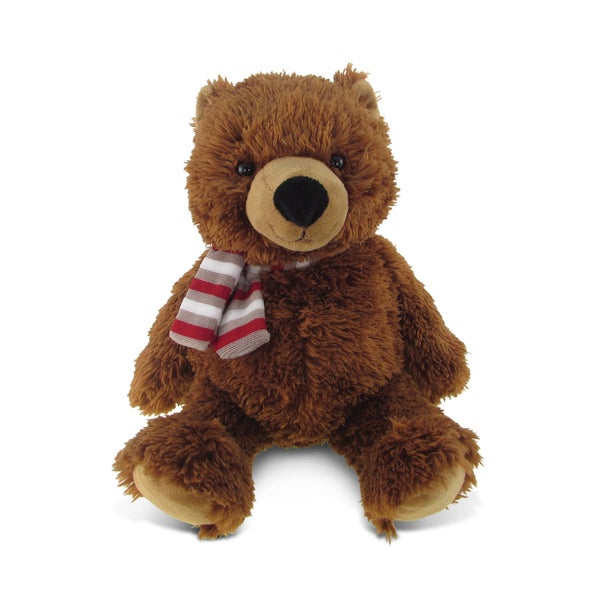 Puzzled Super Soft Plush Sitting Grizzly Bear