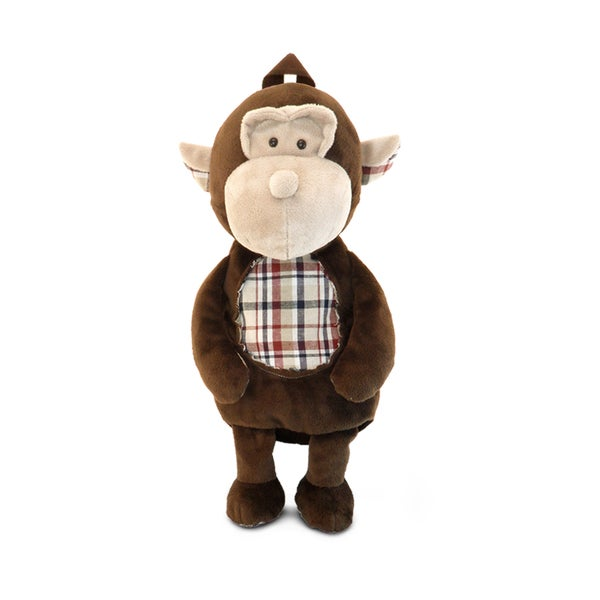 Puzzled Plush Monkey Backpack