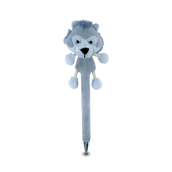 Puzzed Wolf Plush Pen