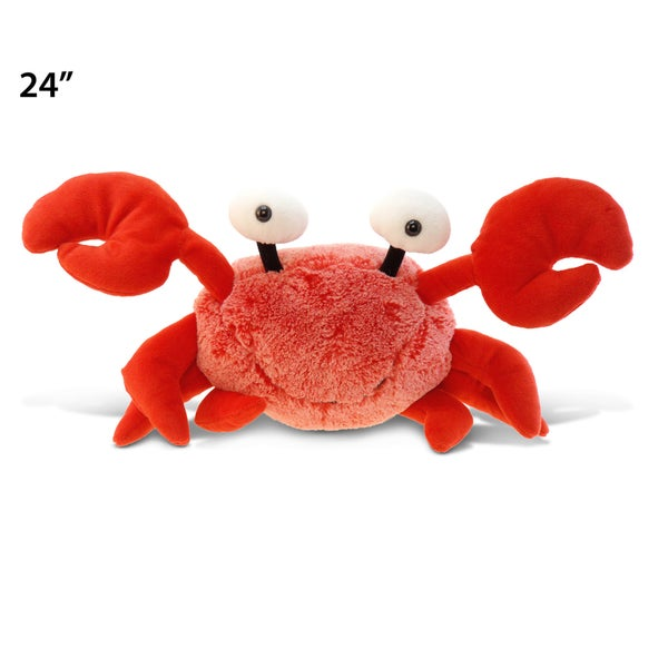 Puzzled Red XL Super-soft Plush Crab