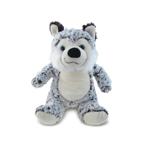 Puzzled Super Soft Plush Sitting Husky 20051863