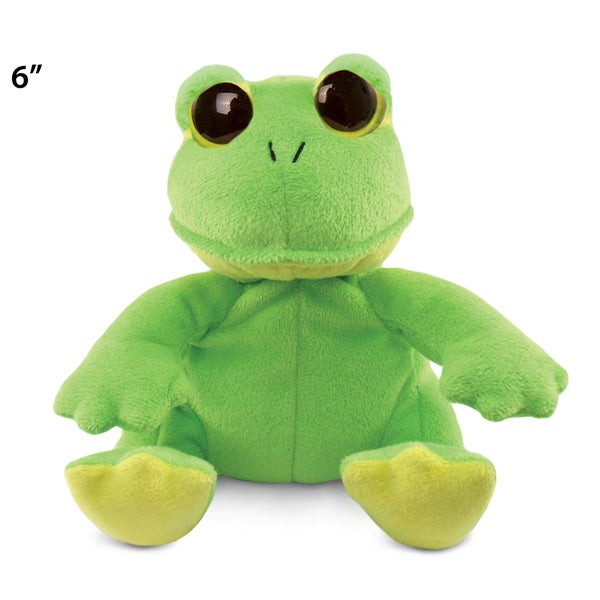 Puzzled Big Eye 6-inch Plush Frog