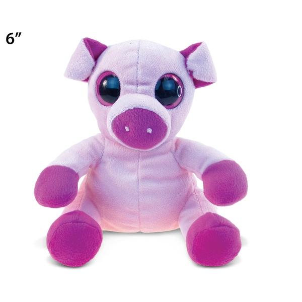 Puzzled Pink/Purple Plush Big-eye Pig 20051944
