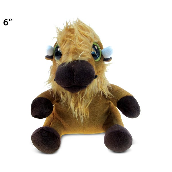 Puzzled Brown Plush Big-eyed Buffalo Toy 20051945