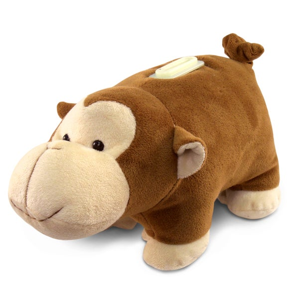 Puzzled Plush Monkey Bank