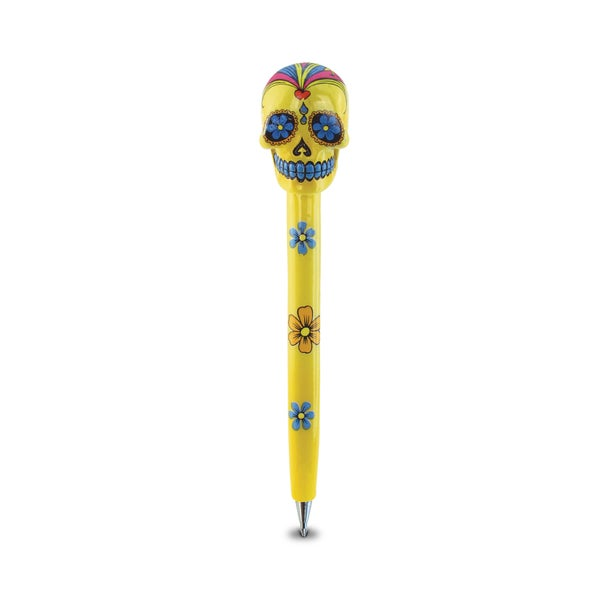 Puzzle Inc Planet Yellow Resin Skull Pen