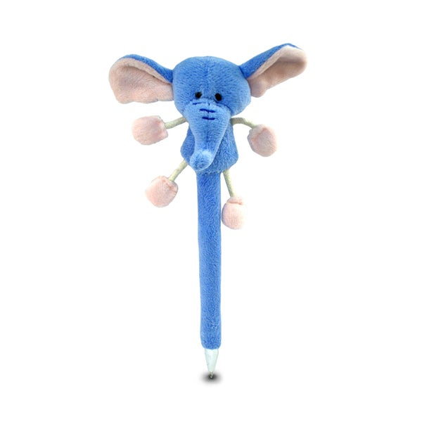 Puzzled Inc. Blue Plush Elephant Pen