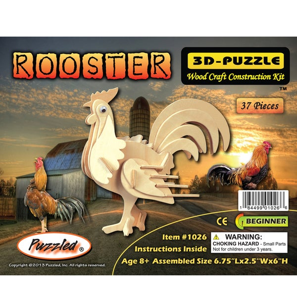 Puzzled Rooster 3D Puzzle