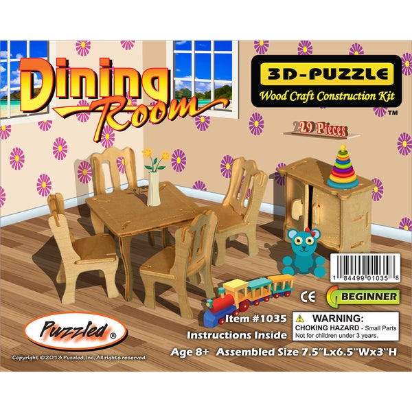 Puzzled Dining Room 3D Puzzle