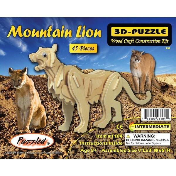 Puzzled Mountain Lion 3D Puzzle 20052613