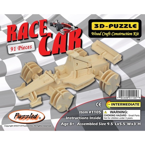 Puzzled Inc. 3D Race Car Puzzle