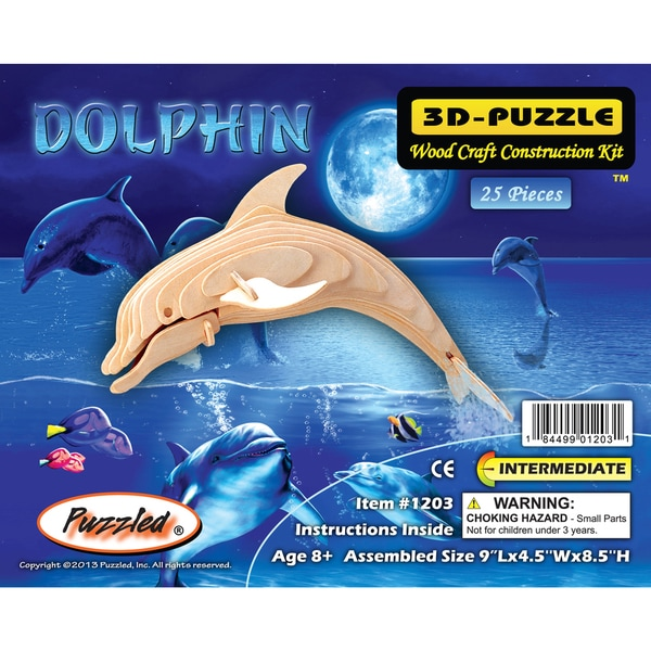 Puzzled Wood Bottle-nose Dolphin 3D Puzzle