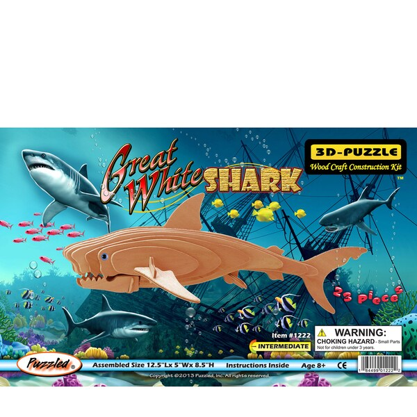 Puzzled Great White Shark 3D Puzzle