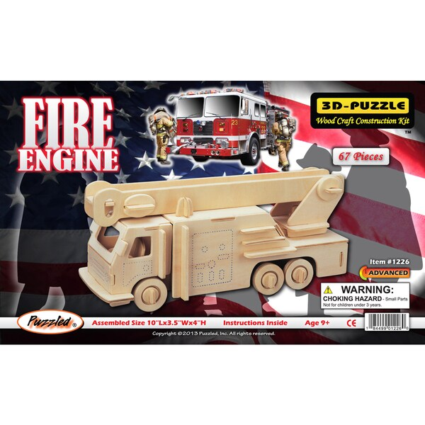 Puzzled 3D Puzzle Fire Engine