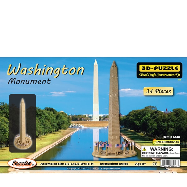 Puzzled Inc Wooden 34-piece Washington Monument 3D Puzzle