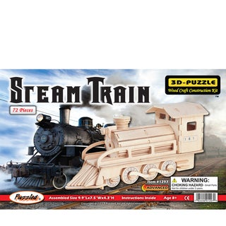 Puzzled Steam Train Wood 3D Puzzle