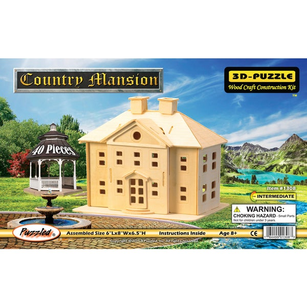 Puzzled Country Mansion Wooden 3D Puzzle