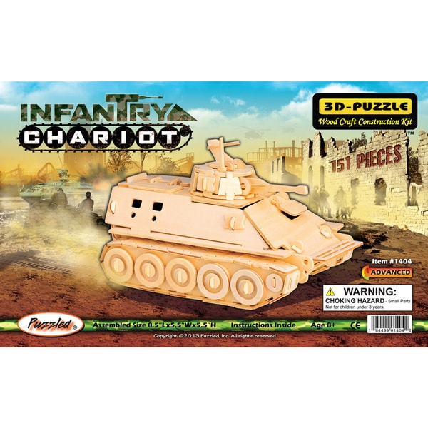 Puzzled Infantry Chariot 3D Puzzle
