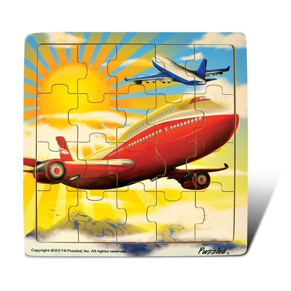 Puzzled Jigsaw Jetliner