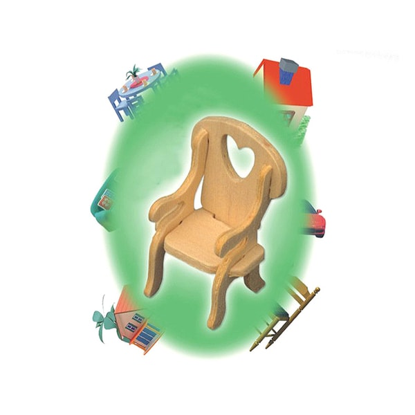 Puzzled Inc. Mini 3D Chair Woodcraft Kit