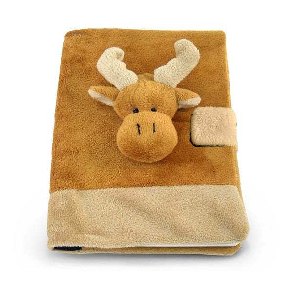 Puzzled Plush Moose Notebook