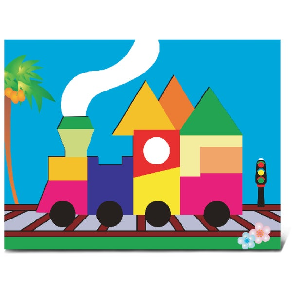 Puzzled Train Fun Puzzle