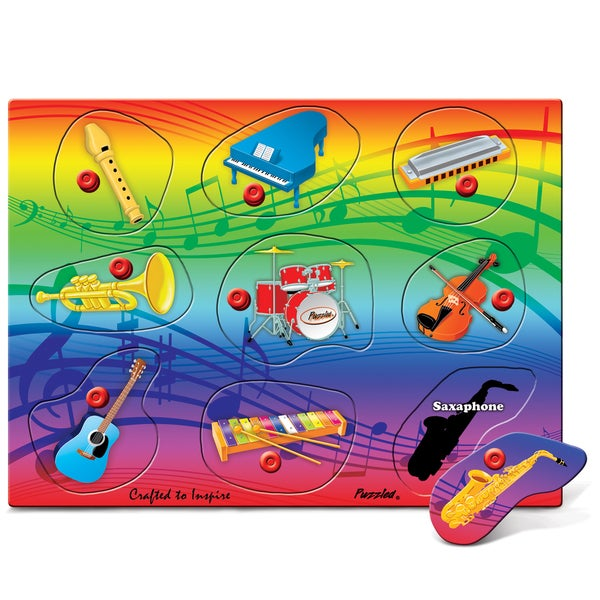 Puzzled Musical Instruments Peg Puzzle