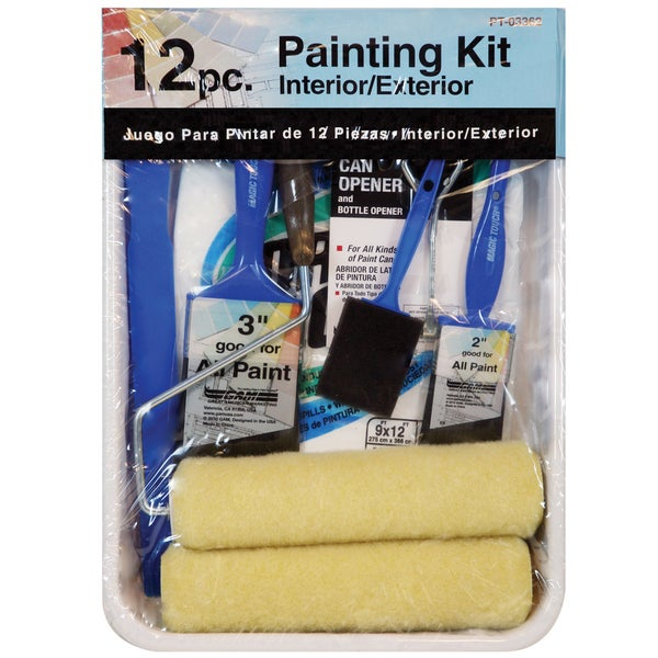 Gam PT03362 12 Piece Roller Paint Kit