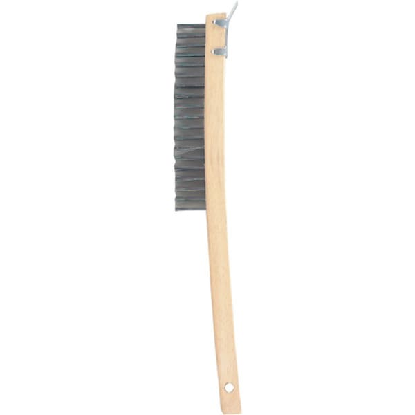 Gam BW01319 Bent Handle Wire Scraper Brush With Beveled Scraper