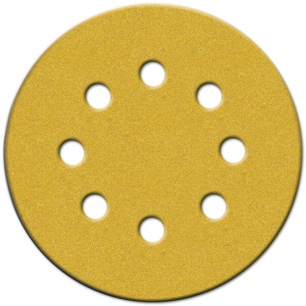 "Norton 02208 5"" Medium Grit P120 Hook & Loop Sanding Disc 4-count"