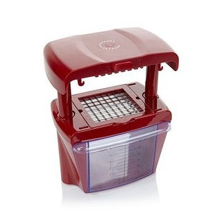 Curtis Stone Chop Chop Red Plastic and Stainless Steel All-in-one Prep Tool