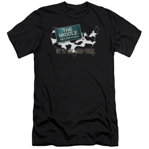 Middle/We'Ve All Been There Short Sleeve Adult T-Shirt 30/1 in Black