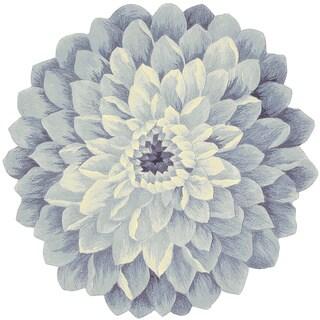 Nourison Bloom Denim Area Rug (3' Freeform)