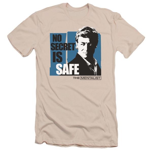 Mentalist/No Secret Is Safe Short Sleeve Adult T-Shirt 30/1 in Cream