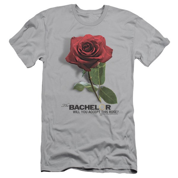 The BacheLOTR/I Accept Short Sleeve Adult T-Shirt 30/1 in Silver