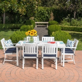 Christopher Knight Home Samana Outdoor Aluminum 7-piece Dining Set with Cushions