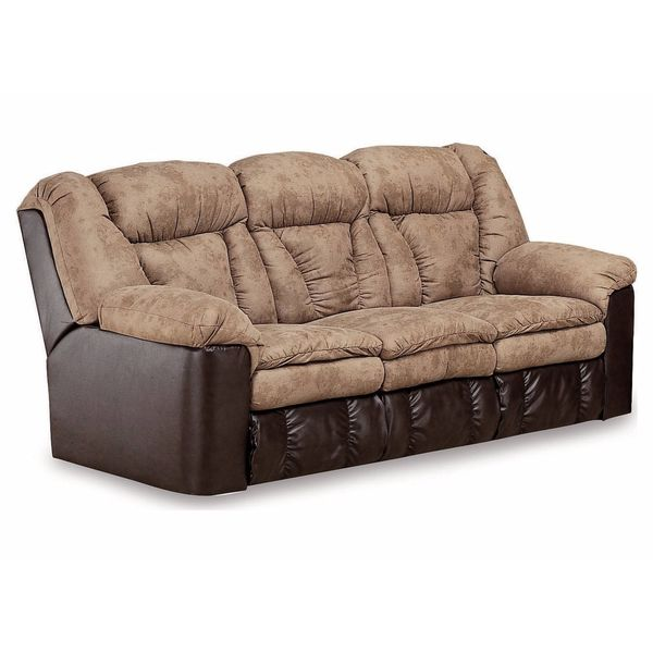 Lane Furniture Montgomery Double Reclining Sofa with Fold-down Table and 2 Motor Massage