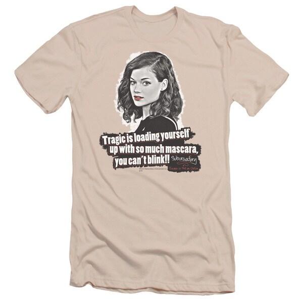 Suburgatory/Mascara Short Sleeve Adult T-Shirt 30/1 in Cream