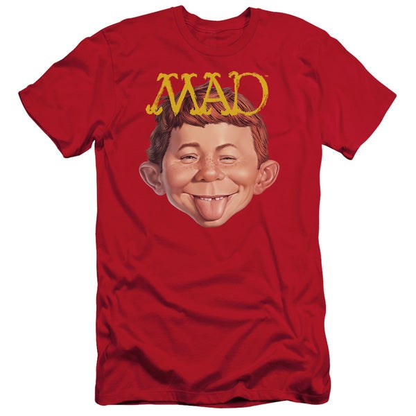 Mad/Absolutely Mad Short Sleeve Adult T-Shirt 30/1 in Red