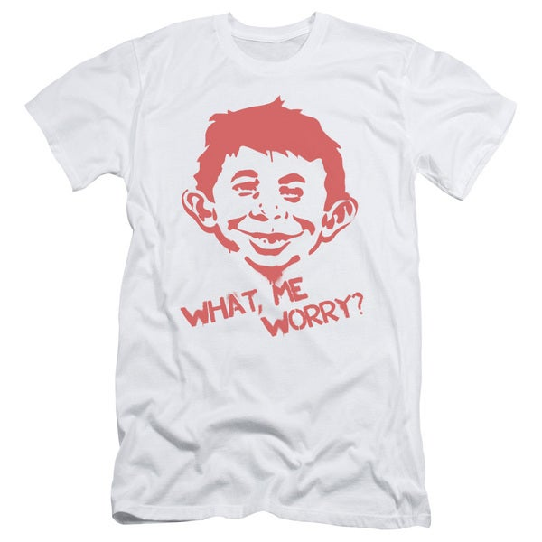 Mad/What Me Worry Short Sleeve Adult T-Shirt 30/1 in White