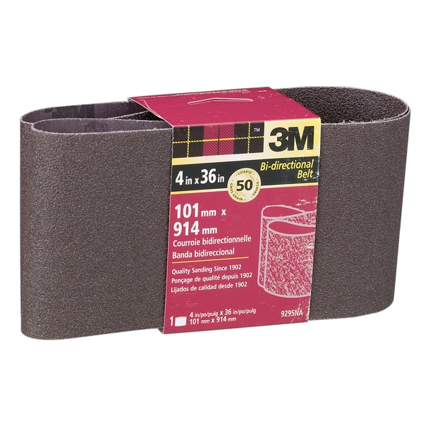"3M 9295NA 4"" X 36"" Coarse Power Sanding Belts"